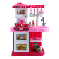 儿童过家家厨房玩具宝宝做饭过家家厨具餐具套装 粉
