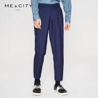 【1件2.5折到手价:98.8】MECITY男装新款羊毛锥形裤韩版商务休闲长裤