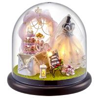 创意情人节礼物智趣屋手工拼装迷你小房子摩天轮diy小屋建筑模型摆件生日礼品送女生儿童玩具