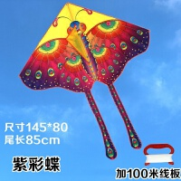 亮布蝴蝶风筝儿童卡通风筝微风易飞好飞带线加备杆 保飞