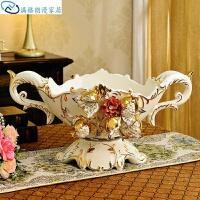 欧式果盘套装家居欧式装饰品陶瓷创意家用客厅果盘摆件水果盘家居装饰家用干果