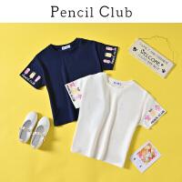 【3件2折:25.8】铅笔俱乐部童装2020夏装新款女童圆领短袖T恤上衣儿童半袖T潮