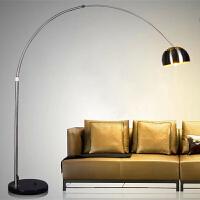 【限时7折】现代简约意大利 落地灯客厅灯卧室麻将灯钓鱼灯台灯 遥控护眼LED