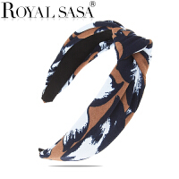 皇家莎莎时尚饰品蝴蝶结发箍头箍宽边发卡手工甜美印花发饰女头饰