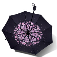 太阳伞防晒防紫外线黑胶折叠雨伞女小清新遮阳伞晴雨两用