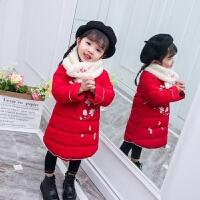女童冬装唐装童装旗袍潮红色宝宝棉袄拜年服儿童棉衣