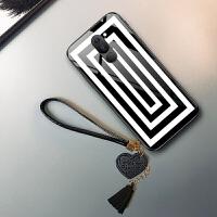 华为荣耀6X手机壳bln-al10保护套al2o玻璃al40日韩al3o黑白色huawei带手绳荣誉