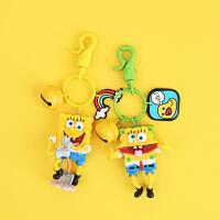 海绵宝宝钥匙扣挂件男女款韩国可爱创意包挂车钥匙链小饰品礼物