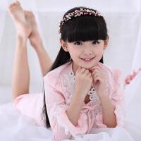儿童睡衣女童夏季中大童公主睡裙母女家居服韩版亲子宝宝长裙