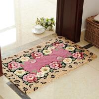 玫瑰花朵门厅入户进门地垫门垫 卧室脚垫 卫生间厨房吸水防滑地垫