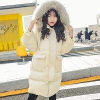 女童棉衣冬装2018新款儿童装韩版加厚棉袄大童洋气中长外套潮