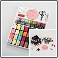 39色缝纫线盒装彩色线团涤纶线手缝衣线50多色家用缝纫机线