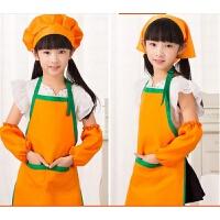 定做儿童围裙画画衣小孩表演服幼儿园围裙套装美术广告diy印LOGO{}xx