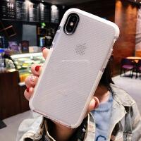 iphoneXR手机壳7plus透明XS MAX散热iphone8透气6s苹果X女镂空6超薄ipho