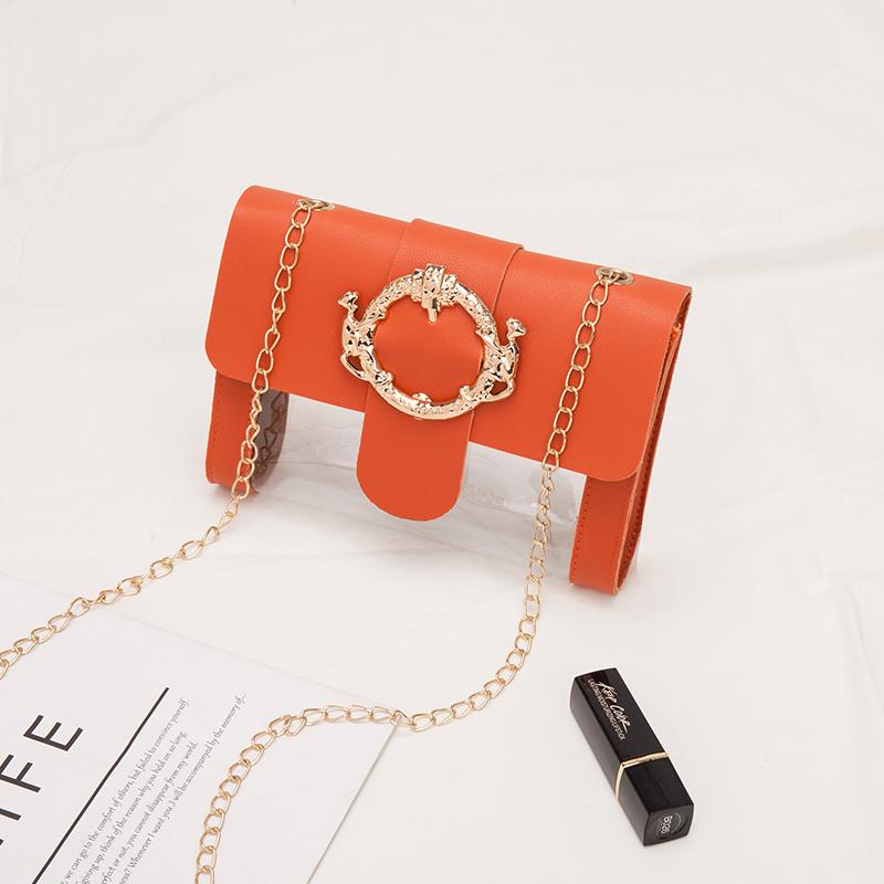 流行包包女包新款韩版链条单肩包网红质感小方包洋气透明斜挎包时XJM217