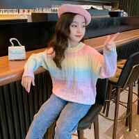 女童毛衣秋装洋气女孩套头打底衫秋季童装儿童针织衫