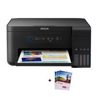 爱普生(EPSON)L4158墨仓式智能无线照片打印机办公家用彩色喷墨一体机连供打印复印扫描替L485 L385