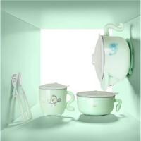 宝宝注水保温碗儿童吸盘碗勺套装宝宝饭碗辅食餐具