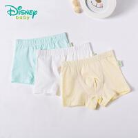 迪士尼Disney童装宝宝内裤新款四季男女童纯棉平角内裤(3条装)181P783