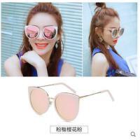圆框韩国偏光墨镜猫眼太阳镜女款女圆脸潮人个性网红装饰墨镜