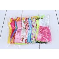 克时帝芭比娃娃衣服婚纱礼服时装时尚裙随机短裙10件玩具配件配饰 10条短裙 款式颜色随机