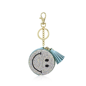 皇家莎莎钥匙扣送女友车用笑脸挂饰女士流苏钥匙链时尚包挂件包包