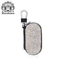 皇家莎莎钥匙扣送女友车用满钻挂饰女士钥匙链时尚包挂件饰品