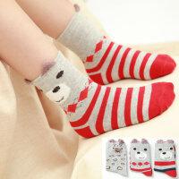 儿童袜子春秋款 男童袜子女童立体袜小孩宝宝短袜童袜(