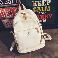 日韩版双肩包男女休闲学院风大容量旅行中学生书包帆布潮电脑背包
