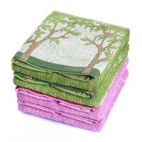日本爱尚佳品洗脸毛巾面巾纯棉2条吸水儿童毛巾方巾R1020