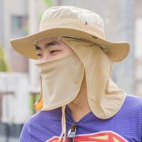 全方位渔夫帽遮阳帽丛林男女帽子防晒沙滩帽户外可拆卸钓鱼帽现货