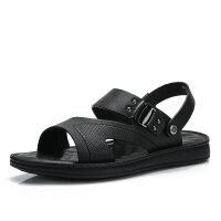 骆驼牌男凉鞋 夏季新品真皮休闲沙滩鞋男舒适软底两穿凉拖鞋