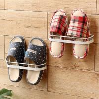 【满减】ORZ 2个装按钮式吸盘拖鞋架 时尚简约壁挂式鞋架卫生间客厅鞋子挂架