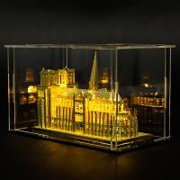 3D立体模型拼装金属拼图巴黎圣母院diy手工玩具礼物