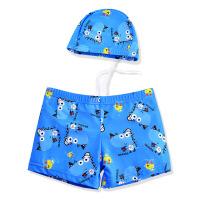 儿童泳衣男童平角泳裤游泳衣带帽宝宝泳衣男孩分体泳装中大童温泉
