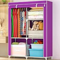 思故轩布衣柜 加固钢架简易衣橱 简易衣柜 组装衣柜1401