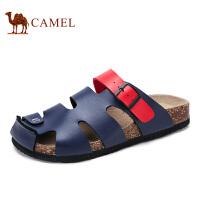 Camel骆驼凉鞋 春夏季日常时尚休闲轻便包头舒适沙滩凉拖鞋男