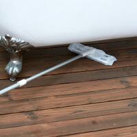 家用旋转平板拖把伸缩夹固式地拖擦玻璃除尘纸托把懒人木地板拖布