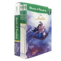 英文World of Reading Disney 迪士尼公主系列阅读 第一级 6册盒装