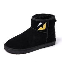 雪地靴男冬季加绒保暖加厚高帮棉鞋男户外防水学生男棉靴
