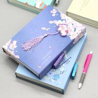 中国风流苏日记本创意古风盒装密码锁本子手账本学生笔记本文具