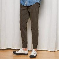 【1件3折到手价:58.8】美特斯邦威休闲裤男秋季新款纯色直筒修身小脚裤学生长裤潮