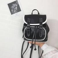 韩版2018新款女包撞色小双肩包女迷你时尚百搭小背包多用校园书包