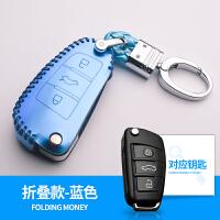 奥迪钥匙包A6L新款A4L真皮Q5Q3A3Q7A7A8专用汽车钥匙扣套壳女智能