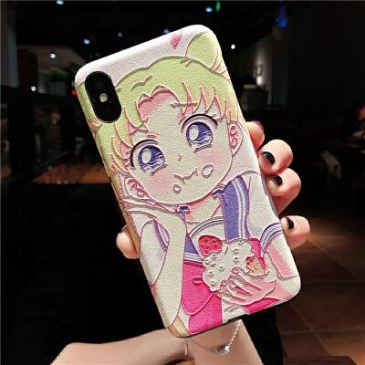 20190601052809364美少女战士xr水冰月iphonex苹果8plus手机壳浮雕xs max软套7p女6s 6/6s小屏 (月野兔)
