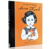英文原版绘本 小人物 大梦想系列 儿童精装图画故事书 Little People Big Dream 安妮弗兰克 Ann