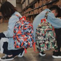 中小学生书包学院风迷彩双肩包男女轻便旅游背包休闲电脑包