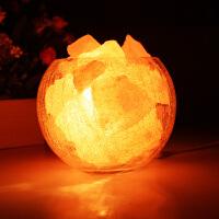 水晶盐灯 喜马拉雅欧式装饰小台灯创意时尚卧室温馨婚庆床头夜灯