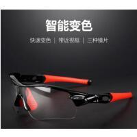时尚护目骑行眼镜变色偏光近视男女户外运动跑步防风自行车山地车装备