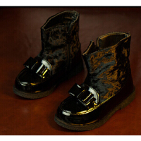 黑色小童皮靴 黑色儿童靴子 周岁儿童摄影靴子 小宝宝拍照靴子